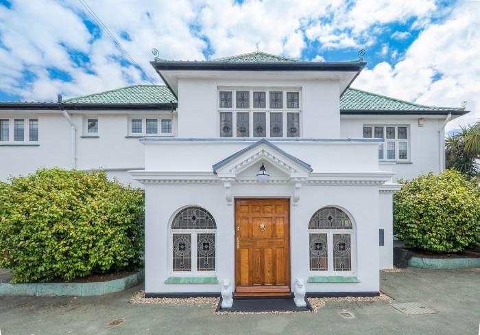 Front door Art Deco House UK