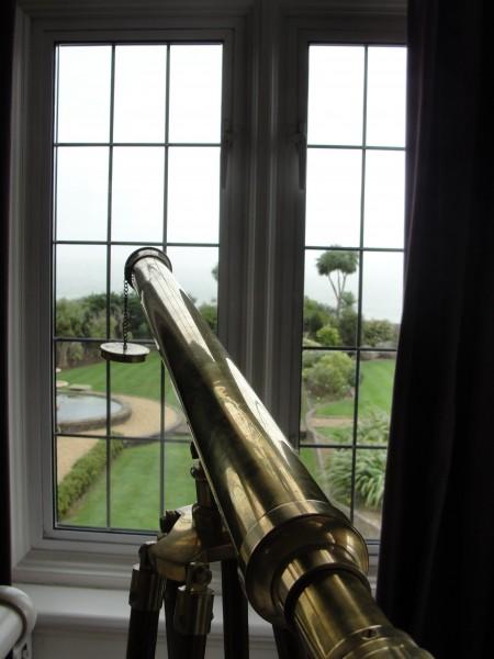 Antique Telescope in the Master Suite