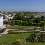 View across Art Deco House UK gardens
