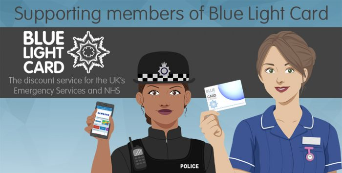 Emergency Services discount to Blue Light Card holders